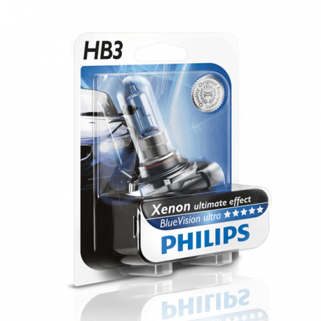 philips 9005bvub1 bluevision bombilla hb3 para faros delanteros efecto ultra xenon. Black Bedroom Furniture Sets. Home Design Ideas