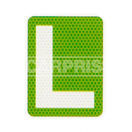 "Placa ""L"" coche de conductor novel 150x19 . Carpriss 79391205"