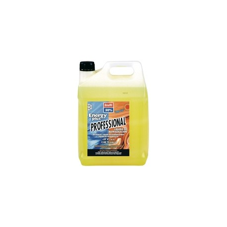 Anticongelante refrigerante 5L 50% -37ºC energy plus long life amarillo fluorescente