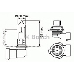 Bombilla HB4 Pure light Bosch