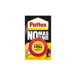 Pattex No Mas Clavos cinta doble cara 1,5mm x 19mm