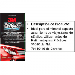 Restaurador de plásticos de faros 3M Carpriss 79140125