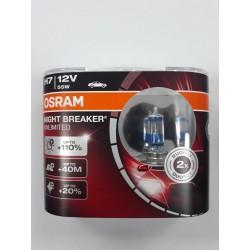 Pack Lamparas H7 Osram Night Breaker Unlimited 110%